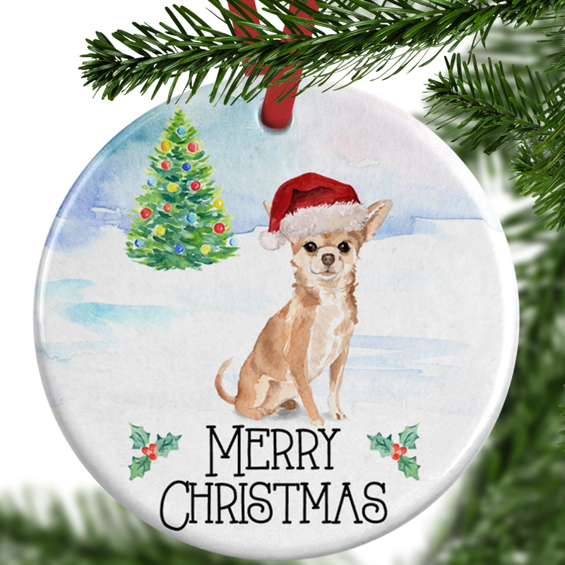 chihuahua christmas ornament
