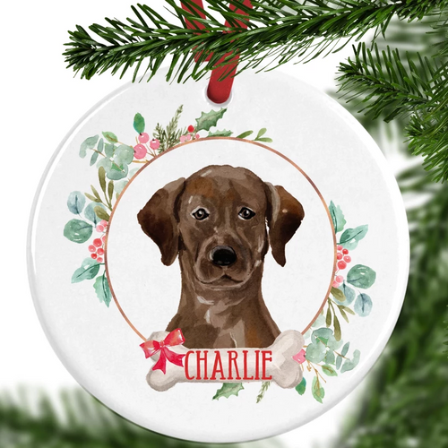 Labrador Personalised Christmas Ornament