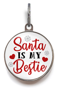 Christmas Dog Tags - Santa Is My Bestie