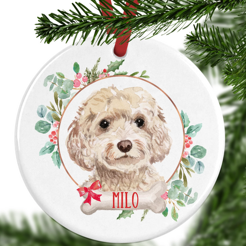 Cockapoo Personalised Christmas Ornament