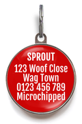 Service Dog ID Tag - Red