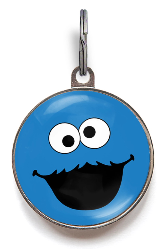 Cookie Mon-Star Pet ID Tag