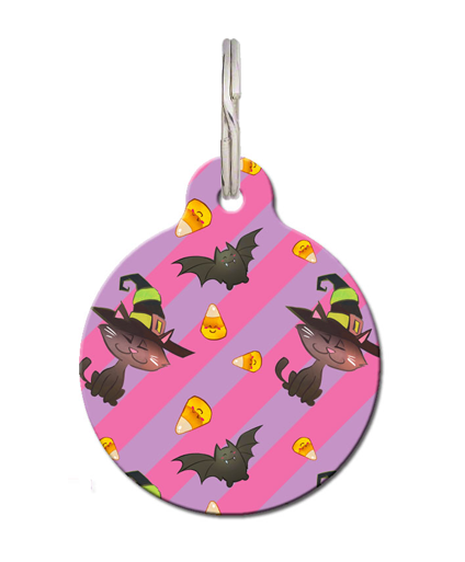Crazy Bat Cat ID Tag