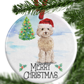 Cream Cockapoo Christmas Ornament