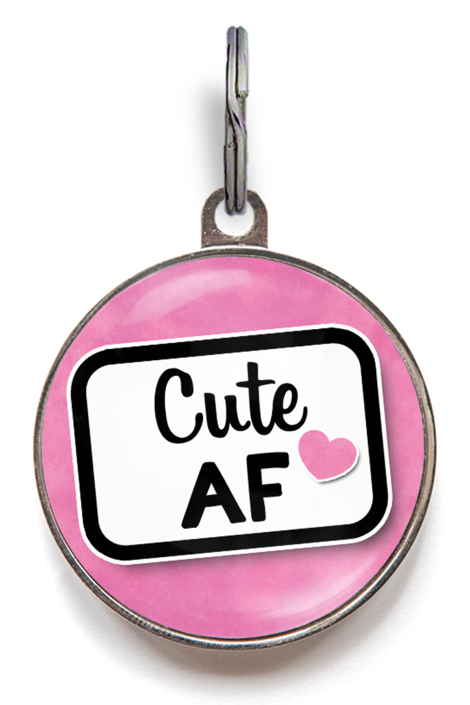 Cute as F**k Novelty Pet Tag