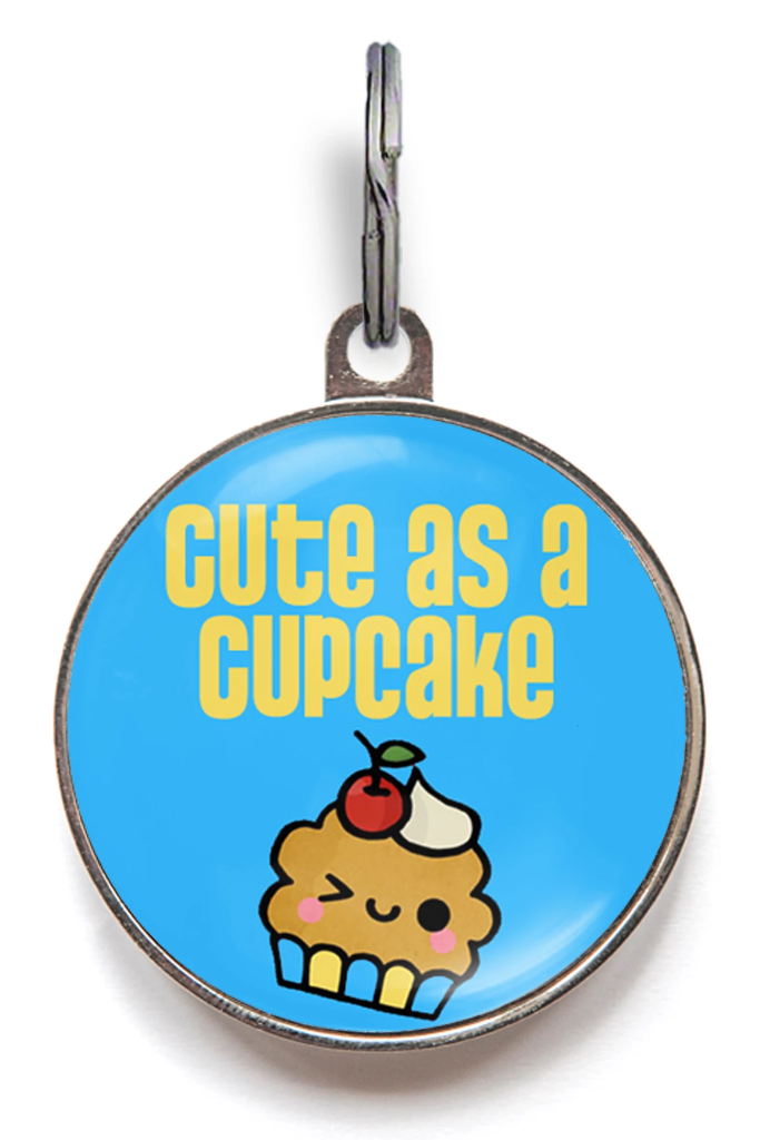 Blue Cute As A Cupcake Pet Tag