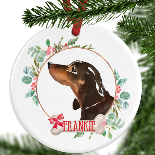 Dachshund Personalised Christmas Ornament