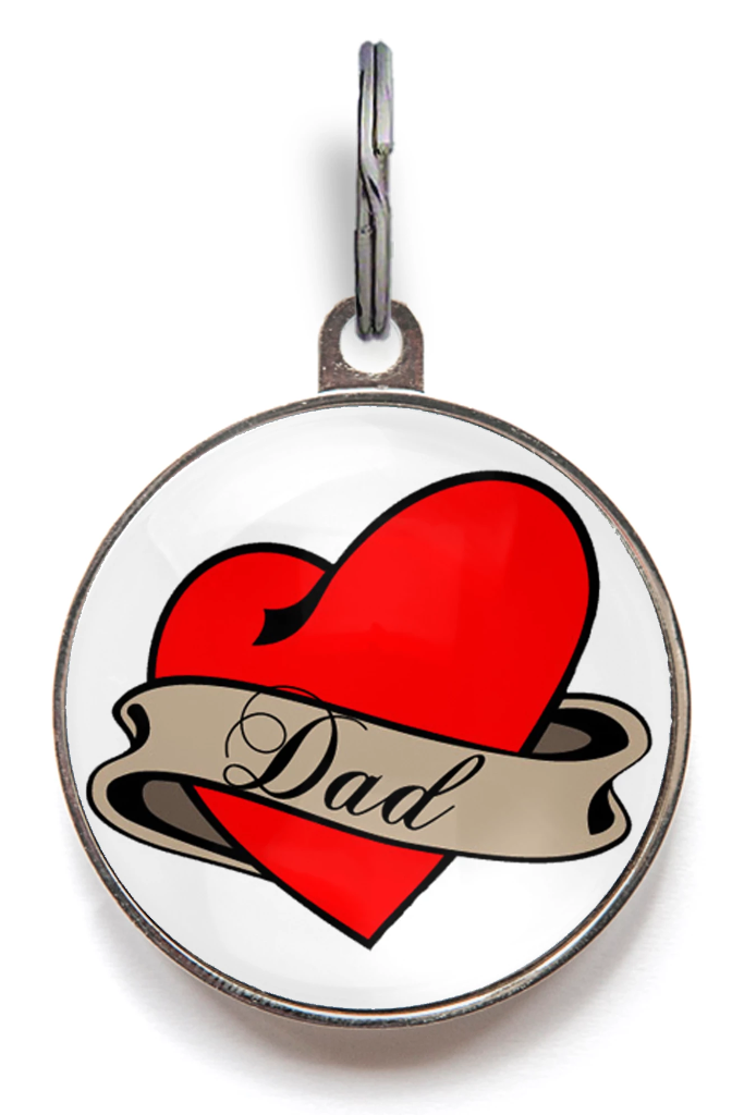Dad Tattoo Pet Tag