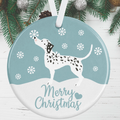 Dalmatian Dog Christmas Decoration - Blue
