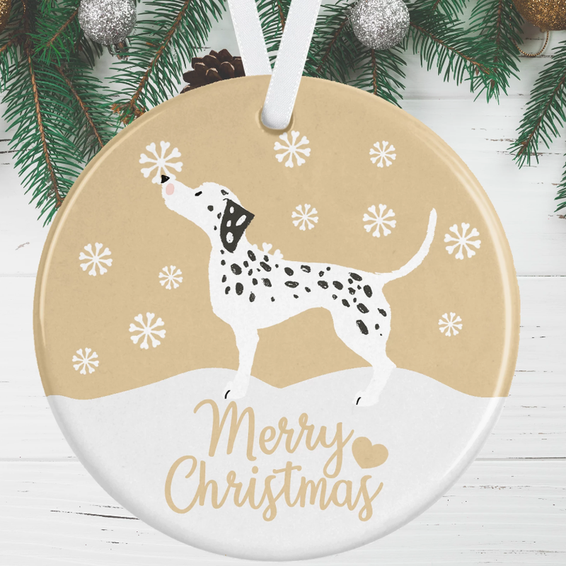 Dalmatian Dog Christmas Decoration - Gold