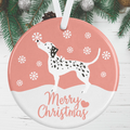 Dalmatian Dog Christmas Decoration - Pink