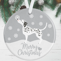 Dalmatian Dog Christmas Decoration - Silver