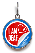 Deaf Medical Pet Tag