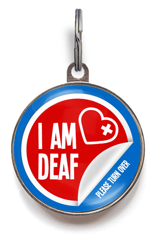 I Am Deaf Medical Pet Tag