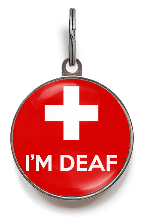 I'm Deaf Medical Pet ID Tag