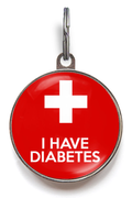 I Have Diabetes Medical ID Tag