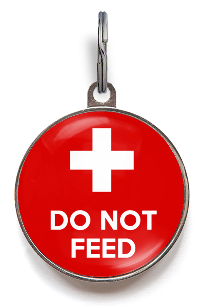 Do Not Feed Medical ID Tag