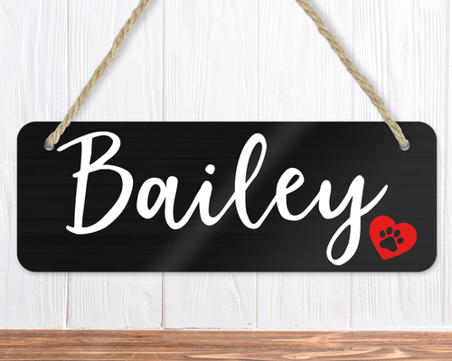 Personalised Dog Name Sign