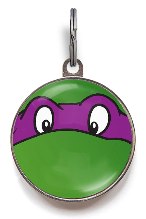 Purple Ninja Turtle Pet ID Tag