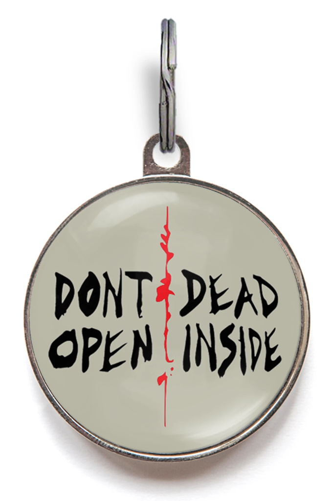 Don't Open, Dead Inside Pet ID Tag