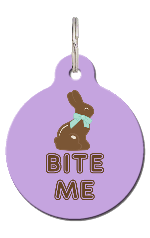 Easter Pet ID Tags - Bite Me