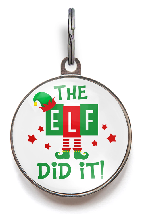 Christmas Dog Tag - The Elf Did It!