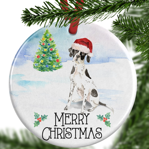 English Pointer Christmas Ornament