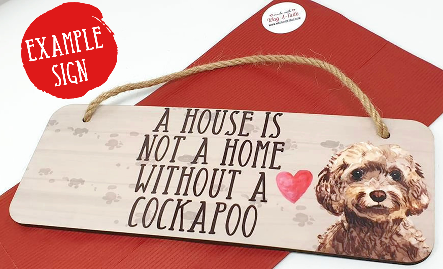 House not Home without a Cavapoo Dog Plaque Animal Pet Lover Gift Wall Sign