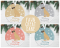 Fawn Great Dane Christmas Decoration