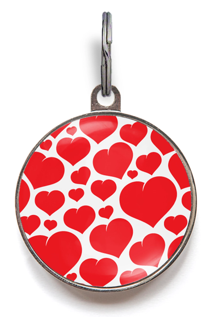 Floating Hearts Pet Tag