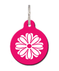 Flower Cat ID Tag - Pink