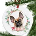 French Bulldog Personalised Christmas Ornament