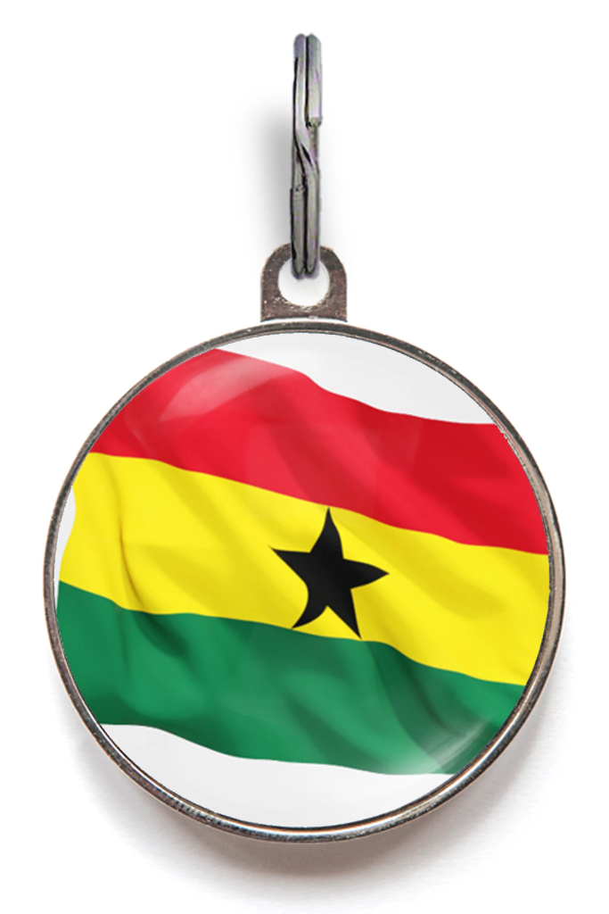 Flag of Ghana Pet Tag