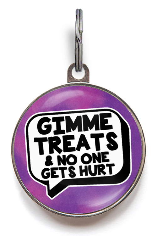 Gimme Treats Pet ID Tag