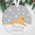 Golden Retriever Christmas Decoration - Silver