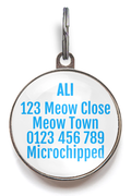 Goldfish Bowl Cat Tag