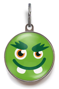 Green Little Monster Pet Tag