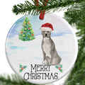 Grey American Staffordshire Terrier Christmas Ornament