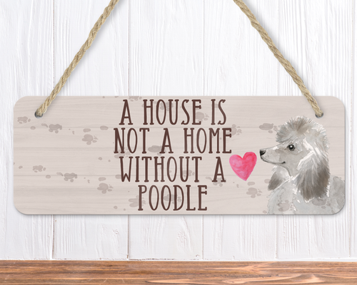 Grey Poodle Sign