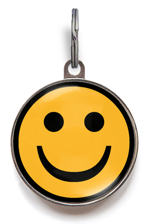 Happy Face Pet ID Tag