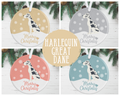Harlequin Great Dane Christmas Decoration