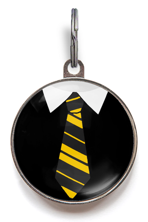Dogwarts Yellow & Black Uniform Dog ID Tag