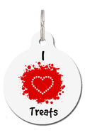 I Love Treats Pet ID Tag