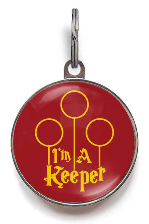 I'm A Keeper Pet Tag