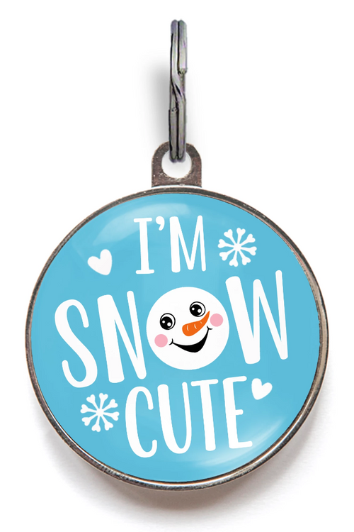 Snow Cute Dog Tag