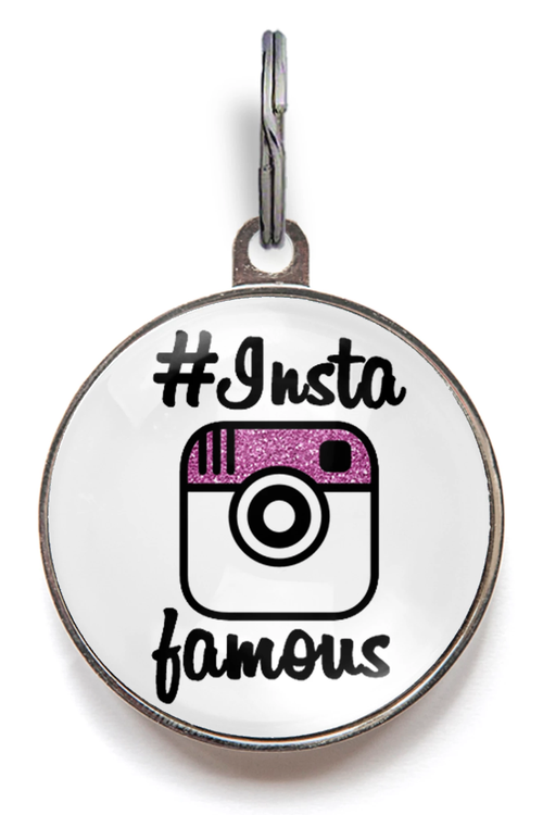 #InstaFamous Instagram Pet ID Tag