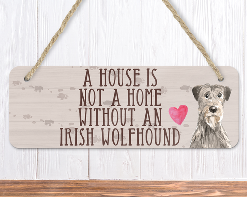Irish Wolfhound Dog Sign
