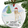 italian spinone christmas ornament