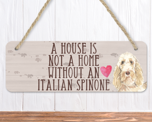 Italian Spinone Dog Sign