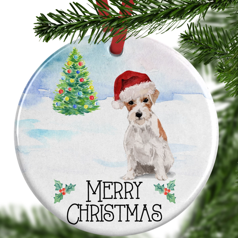 jack russell christmas ornament